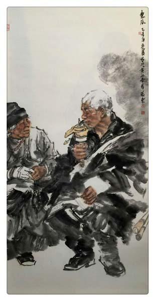 线描立骨 光影塑形——浅析巫卫东国画人物创作的笔墨元