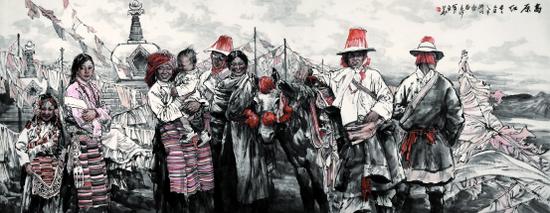 《高原红》 360cm×145cm 2010