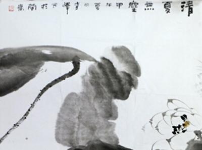 水墨写就一池荷 淡妆白莲纸上香——成功书画网(微)拍第九十四期拍卖李辉画作赏析
