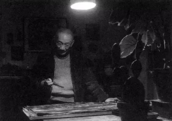 ▲1963年,林风眠在上海