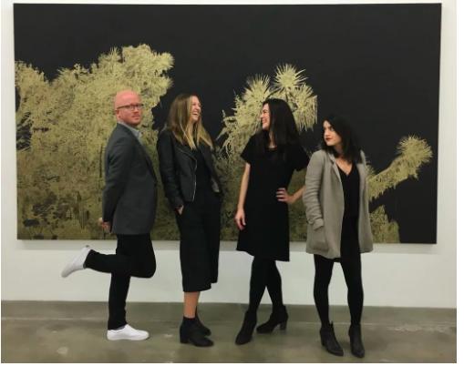 图片:Susanne Vielmetter的员工们在洛杉矶。@vielmettergallery via Instagram