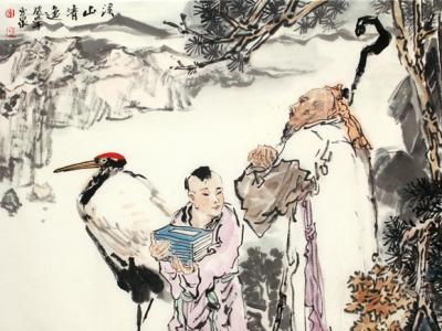 李玉泉《溪山清逸》上拍成功书画网(微)拍第九十八期拍卖
