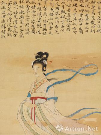 徐子鹤与《洛神》:一代丹青名家的珍贵画作