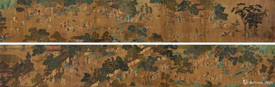 佚名 官威图卷 绢本手卷 50×632 c