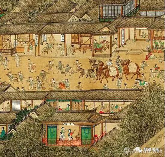 明本《清明上河图》中的青楼和药店(图17)