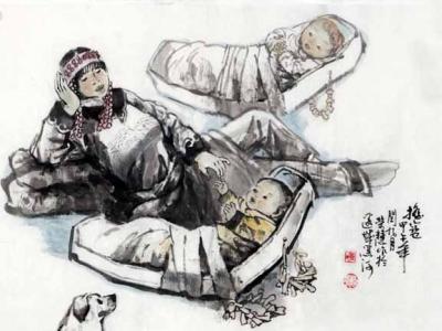 """姜荣慧画作入展""""旺年""""画狗——馆藏国画""""狗""""戊戌贺新春双线联展"""