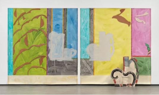 贝蒂·伍德曼(Betty Woodman), 《Paola's Room(diptych)》, 237.5×440.1×29.8cm,2011