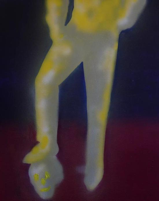 林枞,《死亡的象征意义》,布面油画,80 x 100 cm,2017