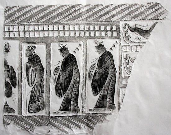 青岛汉画像砖博物馆31×26持节吏A055