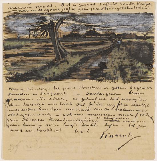 梵高写给胞弟提奥的信件之一