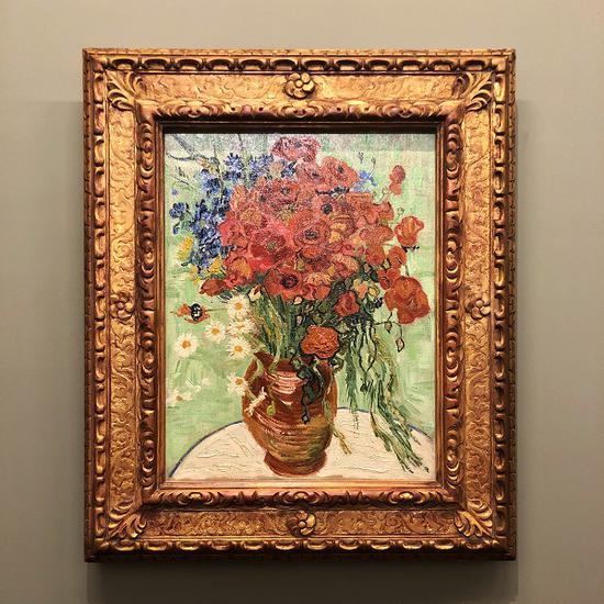 松美术馆的梵高藏品《雏菊与罂粟花》