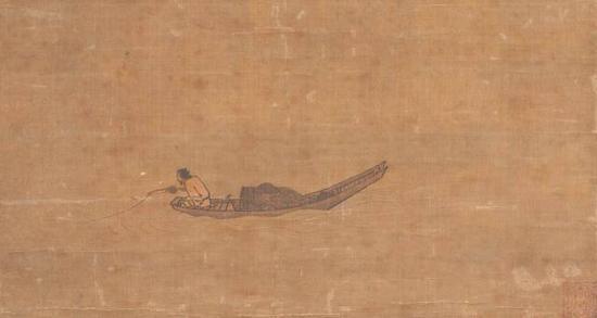 《寒江独钓图》 马远 26.7 x 50.6 cm 日本东京国立博物馆藏
