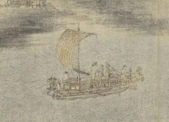 《江帆山市图》局部
