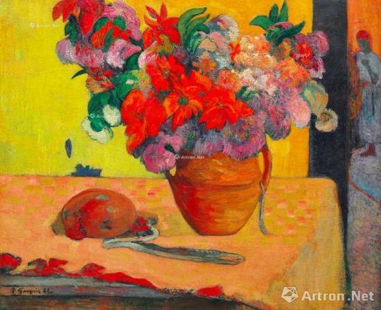 保罗·高更 (1848-1903) 《花瓶里的花》 1886年至1887年作 1893至1895年又作 1943.75万美元