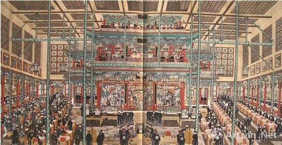 佚名 庆寿图 绢本设色   纵126厘米 横247厘米 中央美术学院藏