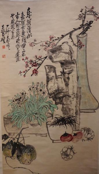 吴昌硕《花卉图轴
