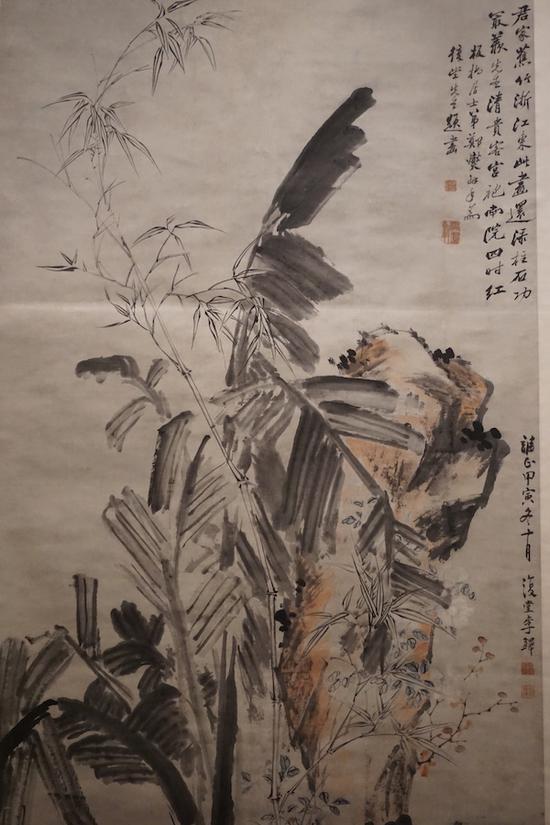 李鱓《焦石图轴