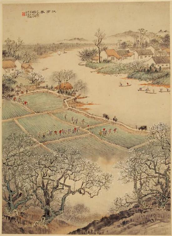 钱松喦 《江南春》 72×52cm 1958年