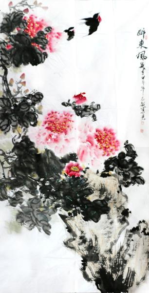 """雍志敏花鸟画亮相""""第十届中国•西安工艺礼品文玩艺术品收藏展览会"""""""