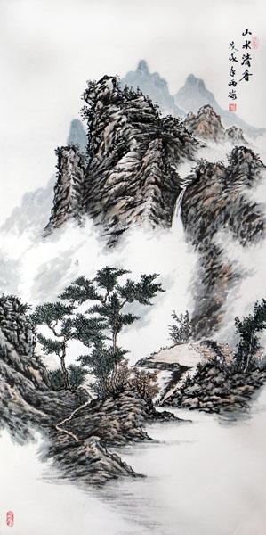 """山水深处是吾家——高晖山水画在""""成功美术馆贺新年·迎新春书画艺术展""""展出"""