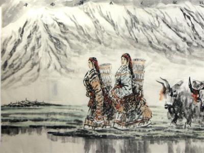 雪域景致 殊异人物——略谈成功美术馆馆藏张卫平藏族人物风情绘画