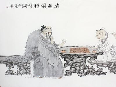 素雅墨写千古意——黄金钟人物画作浅析