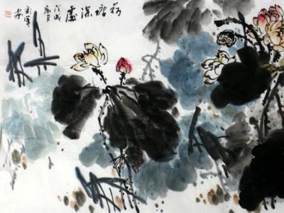 荷蕴四时 墨彰华彩——刘彩军先生水墨荷花创作浅谈