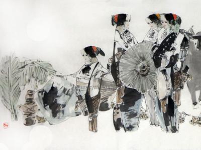 画蕴博约 斑斓迷离——陈永乐先生云南人物绘画艺术浅析