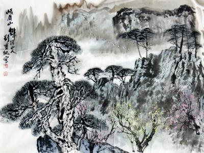 墨韵洒脱 意写自然——馆藏著名画家刘宝纯山水画在《西部成功书画家》刊发