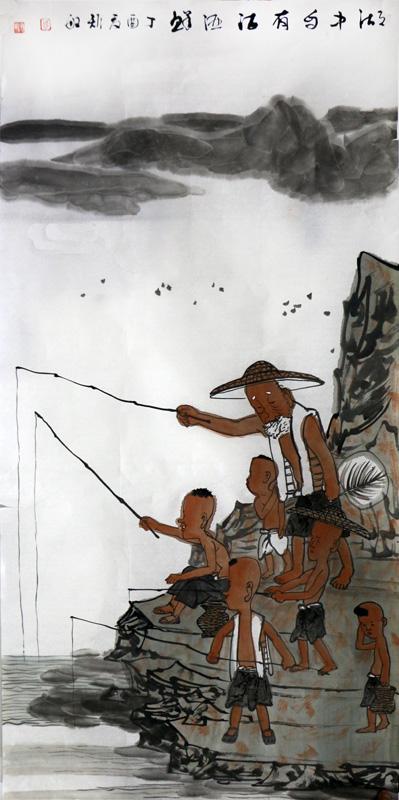 """笔墨意趣 别具一格——苏州国画院名誉院长周矩敏先生作品在""""翰墨丹青耀金秋•全国名家书画展""""展出"""