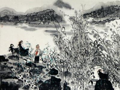 """密林雅逸——著名画家张东林人物画在""""翰墨丹青耀金秋•全国名家书画展""""展出"""