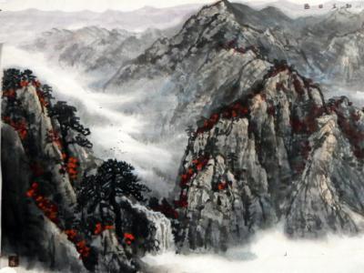 范山模水 气势磅礴——浅析成功美术馆馆藏宁夏山水画家袁柏生画作