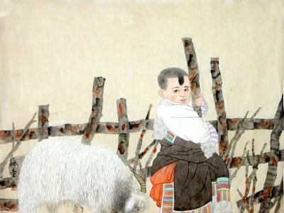 形神具备 意趣同生——赏读《西部成功书画家》刊载苏童先生人物画作有感